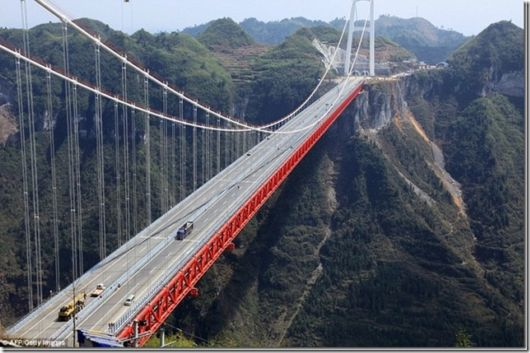 China Opens Record Breaking Aizhai Bridge