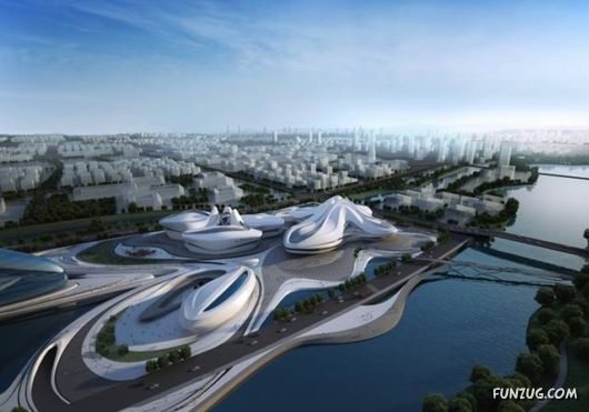 Futuristic Cultural Complex In Changsha, China