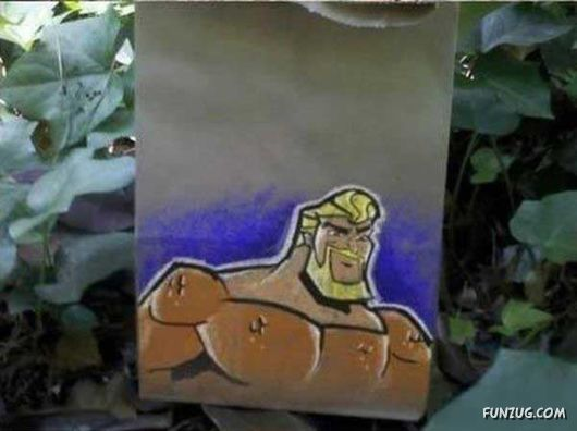 Awesome Dad Draws Art On Lunch Bags