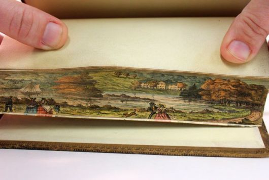 Hidden Artworks Painted On The Edges Of Books