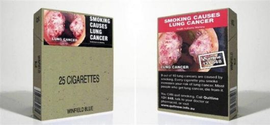 Aggressive Cigarette Pack Warnings