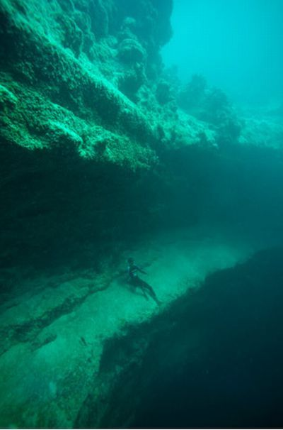 Amazing Underwater Caves In The Bahamas