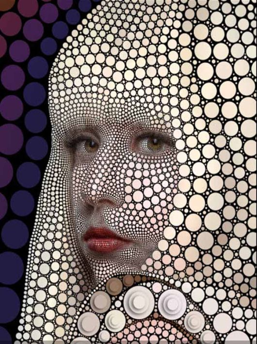 The Portraits Made Of Circles