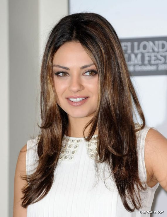 Charming Mila Kunis At London Music Festival