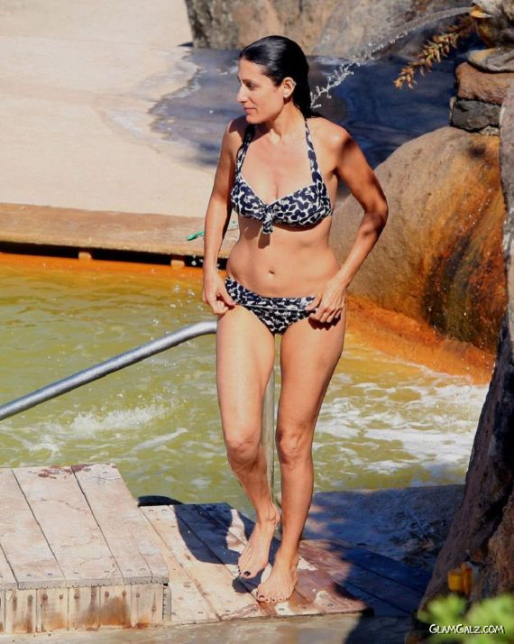 Lisa Edelstein In A Bikini In Italy