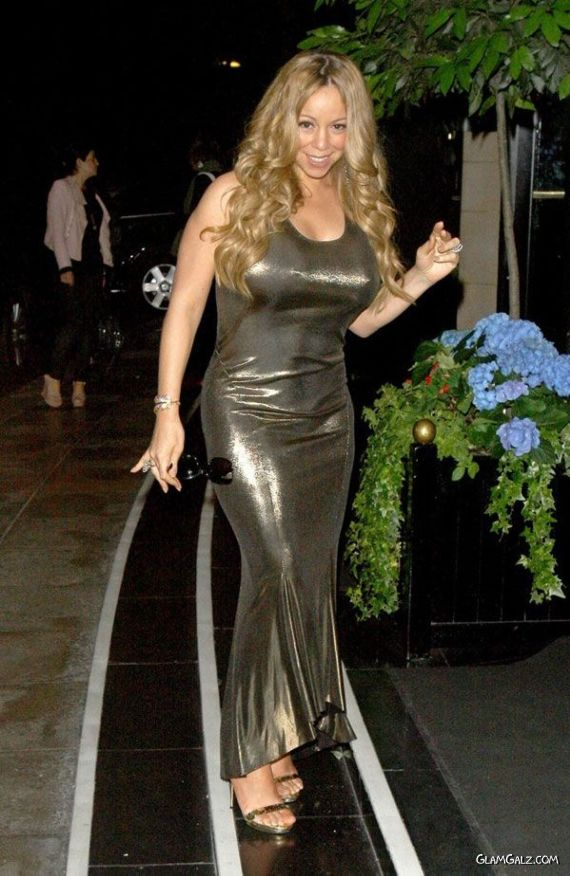 Mariah Carey Spotted At Dorchester Hotel