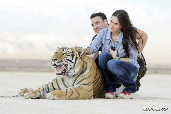 Megan Fox at Big Cat Encounters Ranch