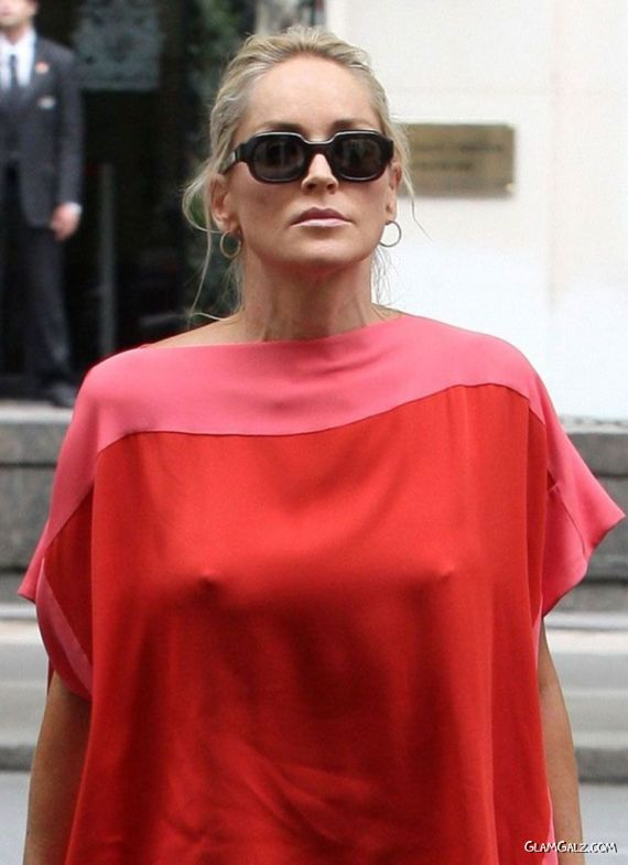 Sharon Stone Out And About In Paris