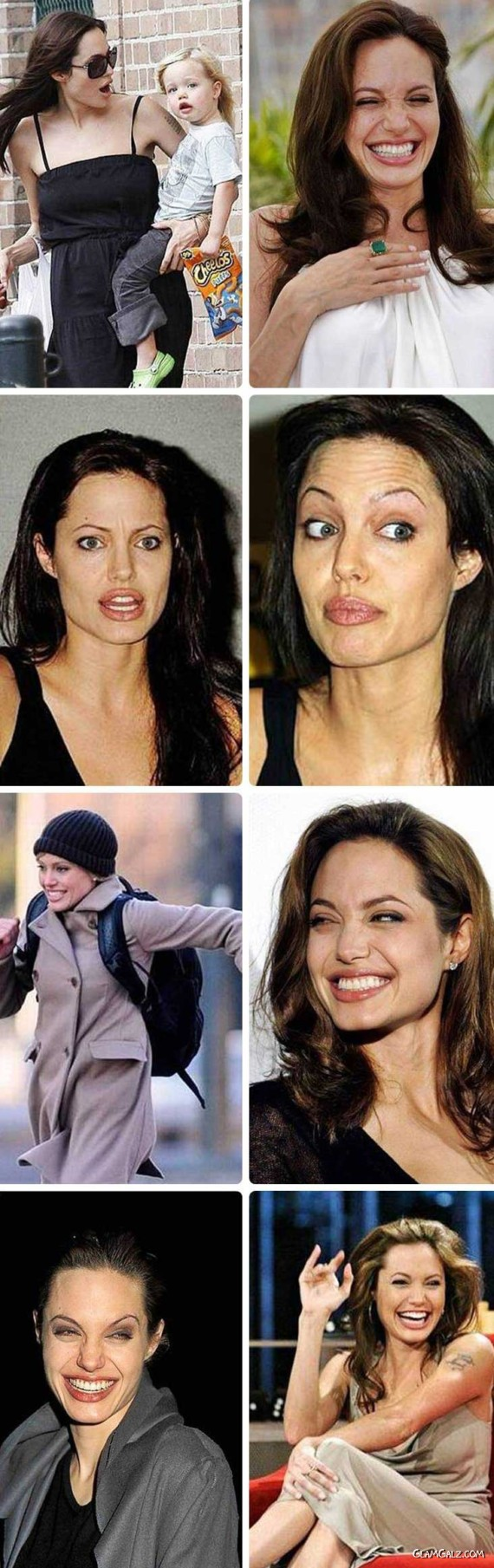 Different Expressions of Angelina Jolie