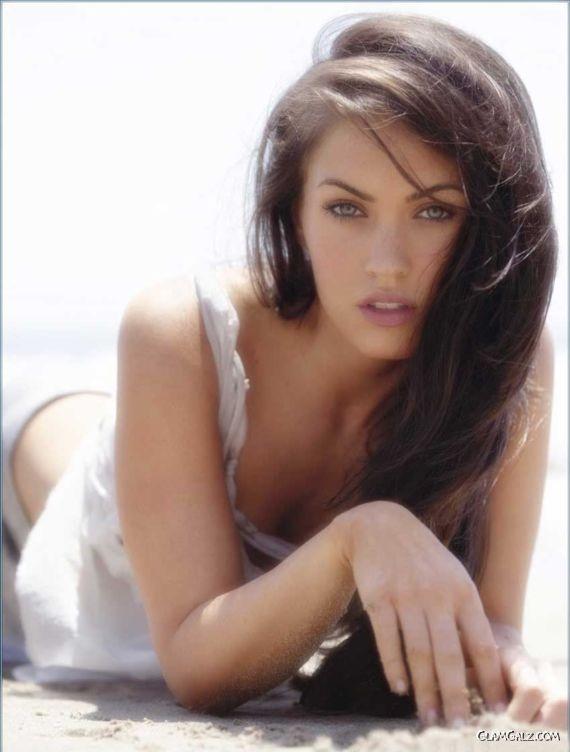 Beautiful Megan Fox on the Beach
