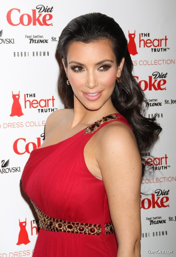 Stunning Miss Kardashian in Red