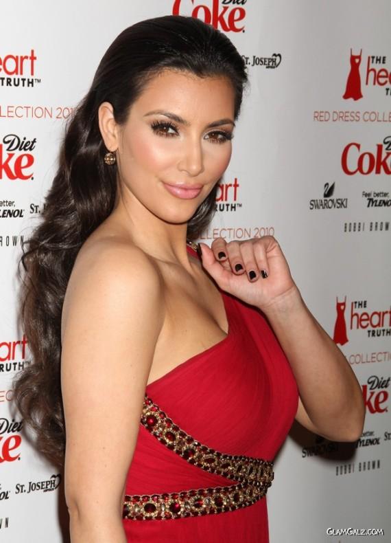 Stunning Miss Kardashian in Red