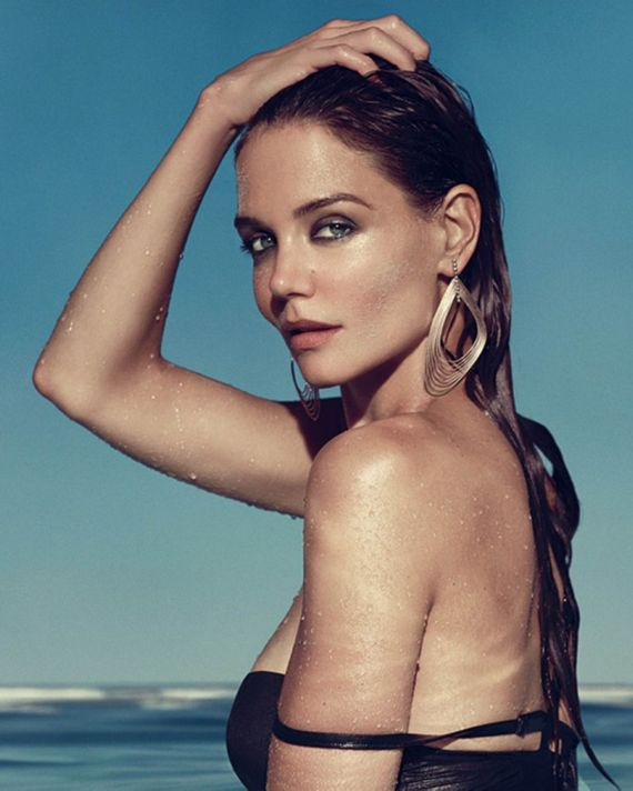 Katie Holmes For IRIS Jewelry Beach Ad Campaign