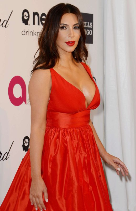 Miss Kardashian At Elton John AIDS Foundation Party