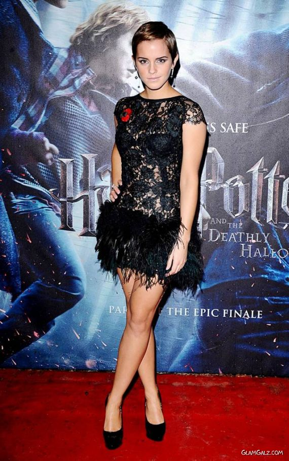 Emma Watson At The HP Premiere in London
