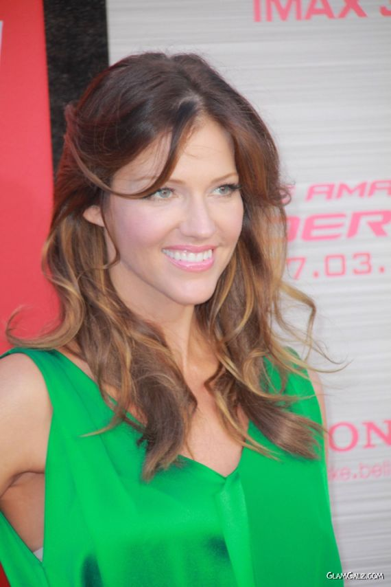 Gorgeous Tricia Helfer At Amazing Spiderman Premiere