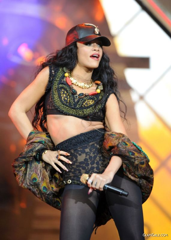 Rihanna Performing At A Festival In London