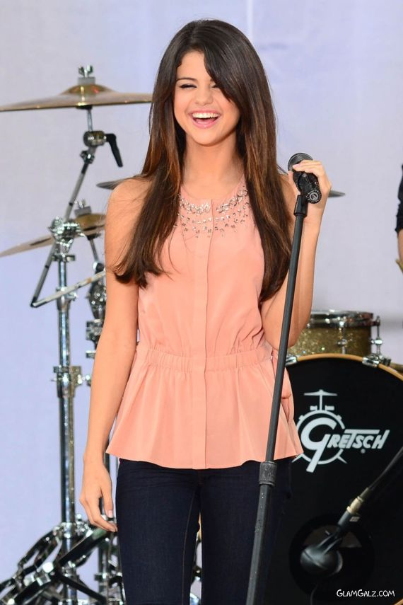Selena Gomez On Stage During Performance