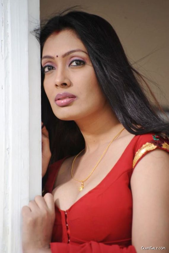 Beautiful Surabhi In Red Saree