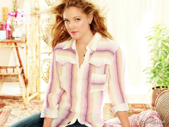 Click to Enlarge - Graceful Drew Barrymore Walls