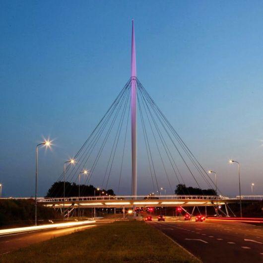 Floating Circular Cycle Bridge In Eindhoven